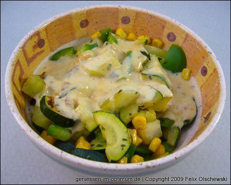 Kohlrabi-Zucchini Pfanne