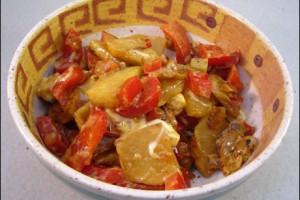 Kohlrabi-Paprika-Pfanne