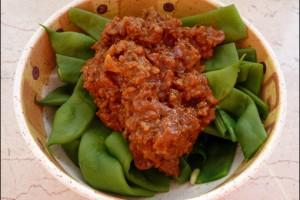 Bohnen Bolognese
