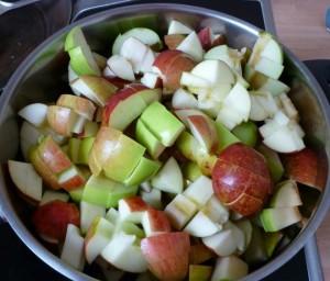 Rezept für Apfelkompott ohne Zucker