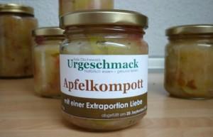 Apfelkompott einkochen ohne zucker