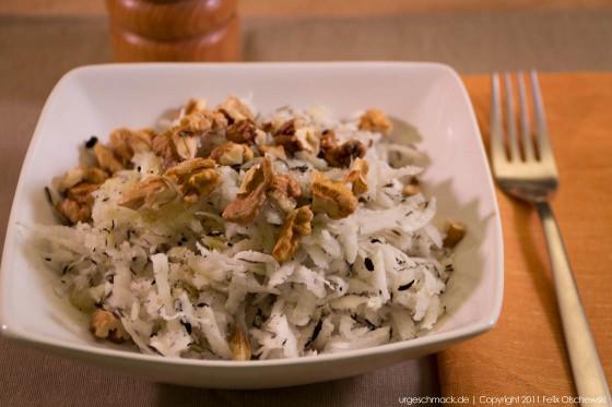 Schwarzer Rettich Salat