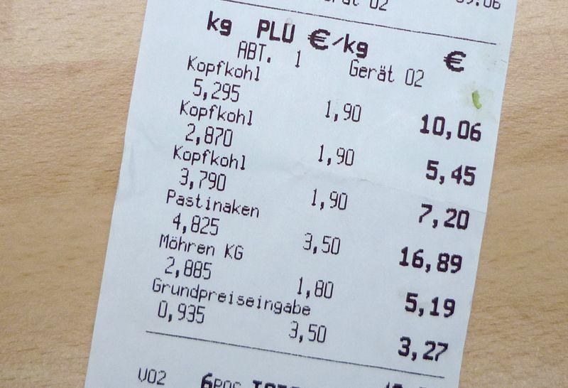 Wie viel geld für lebensmittel pro monat 1 person