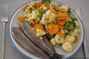 Matjes mit Gemüse