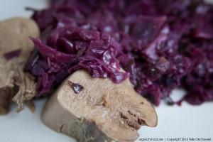 Rinderzunge mit Rotkohl